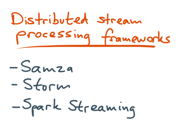 Distributed stream processing frameworks overview