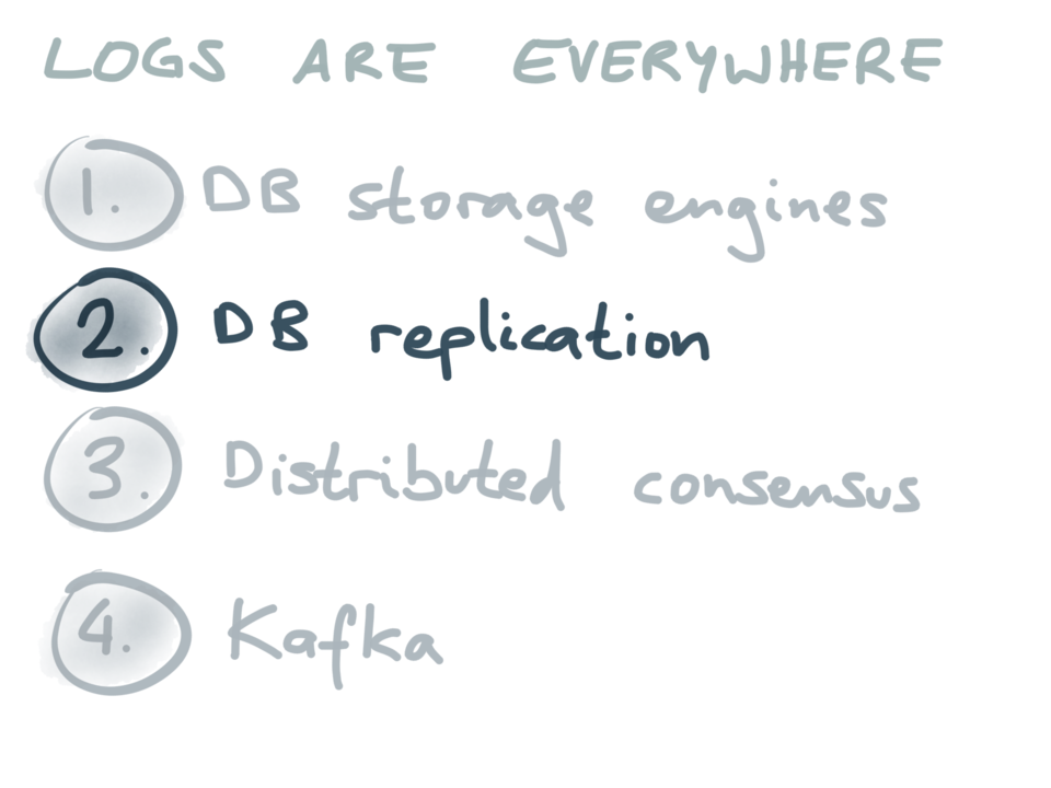 Logs are everywhere: DB replication